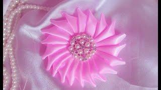Easy ribbon flower DIY/TUTORIAL