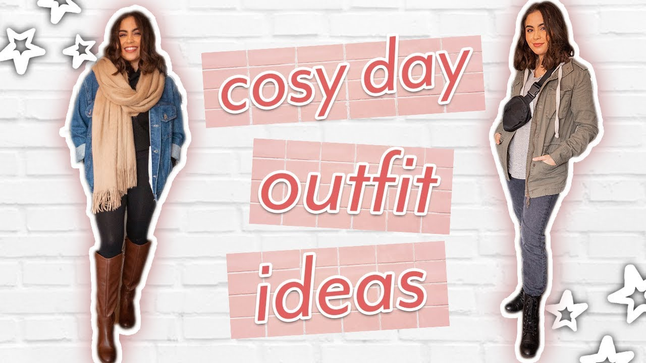 5 CUTE COSY DAY OUTFIT IDEAS // outfits for lazy + rainy days ♡ 1