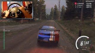 DiRT Rally 2.0 - Chevrolet Camaro GT4.R -  Finland Rally with Steering Wheel Gameplay [WheelCam]