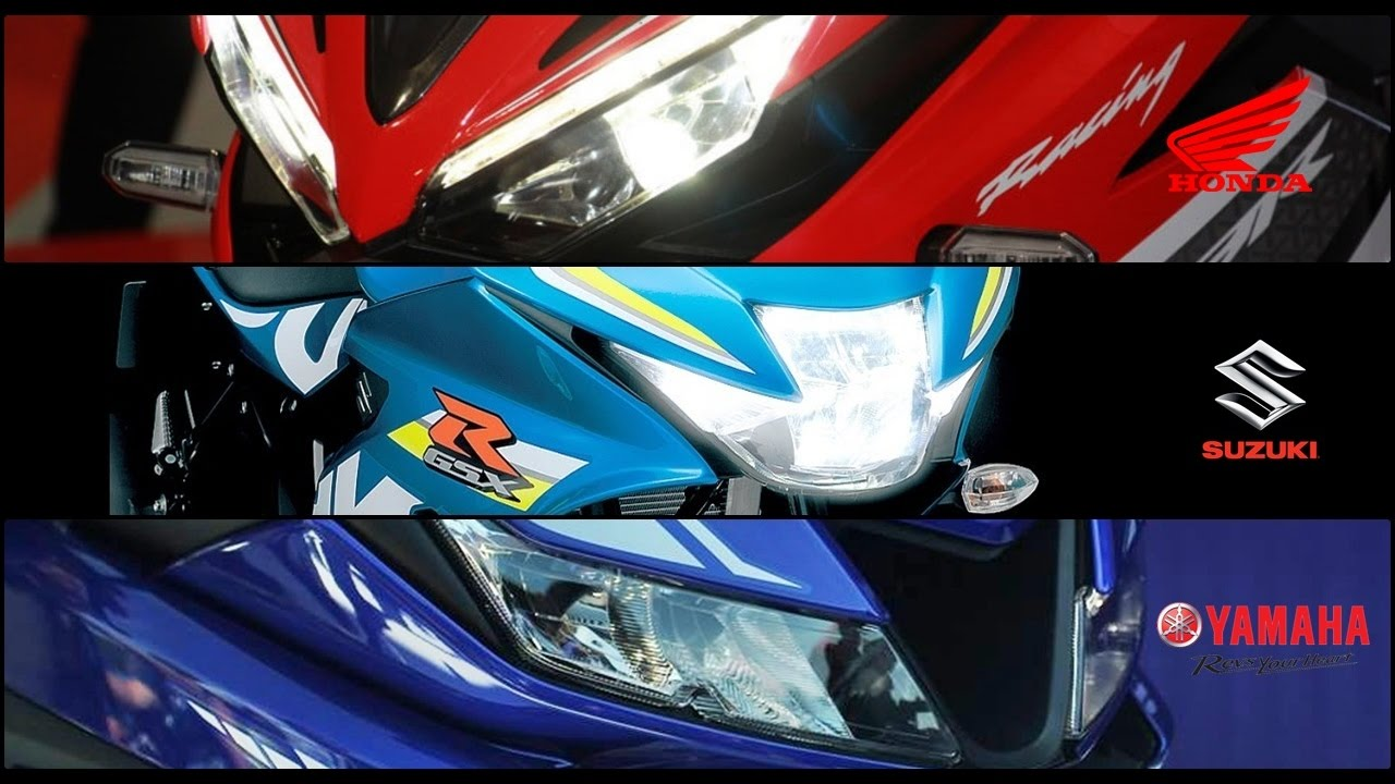 Comparison honda cbr150r vs yamaha r15 v3 vs suzuki gsx for Yamaha r15 v3 price philippines