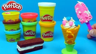 Play-Doh Making ice creams | Family Toys Collector