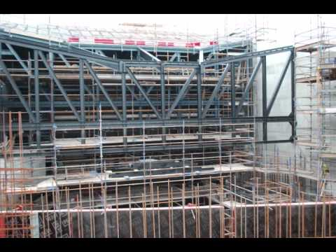 Construction of the Lyric Theatre Belfast