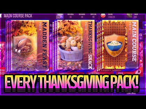 OPENING EVERY THANKSGIVING PACK!? IS IT WORTH IT? 30+ PACKS - MADDEN FEAST!