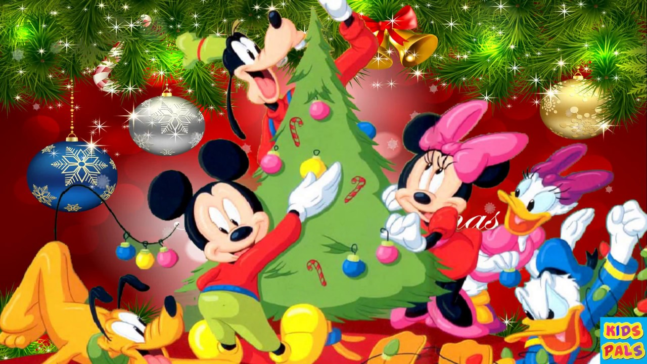 Merry Christmas Disney.Disney We Wish You A Merry Christmas Disney Christmas Music Carols Songs Medley With Mickey Mouse