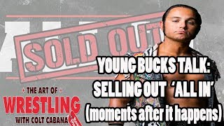 Matt Jackson Shoots on Selling out ALL IN just moments after  | ART OF WRESTLING EP 8