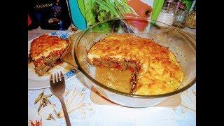 Куриная печень запеченная под овощами и сыром.