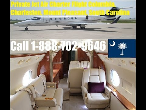 Private Jet Air Charter Flight Service To or From Columbia, Charleston, Mount Pleasant, SC