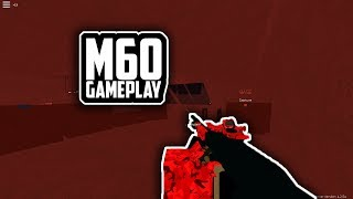 M60 Gameplay + Setup in Phantom Forces - Roblox