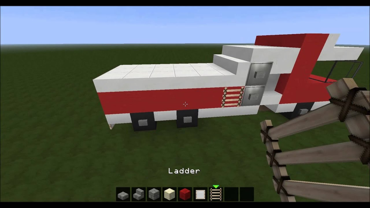 How To Build A Fire Truck Minecraft