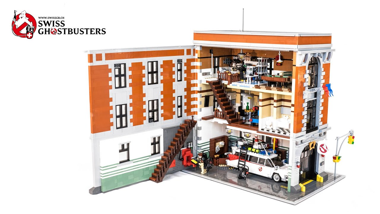 Lego Ghostbusters Headquarters Moc V1 Amp V2 With Lights
