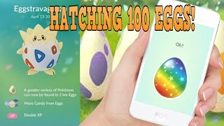 Hatching 100 2 KM MYSTERY EASTER EGGS in POKEMON GO (PART 1 OF 3)