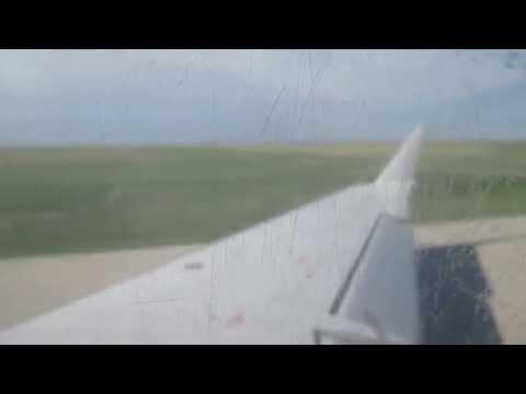Take off from Garden City, KS/ CRJ-200 American Eagle.