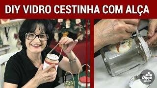 VIDRO CESTINHA COM ALÇA – ARTESANATO