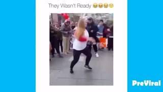 Big girl kills it at a dance battle! (IT'S LIT!!!)