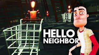 БЕШЕНЫЕ МАНЕКЕНЫ в ЖУТКОМ СУПЕРМАРКЕТЕ в игре Привет Сосед Мультяшный хоррор Hello Neighbor Акт 3