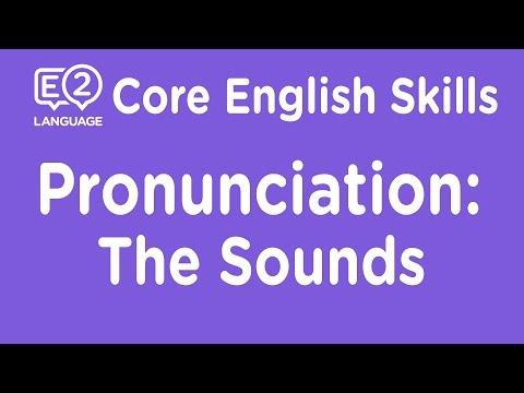 E2 Core Skills Lecture: Pronunciation: The Sounds of English