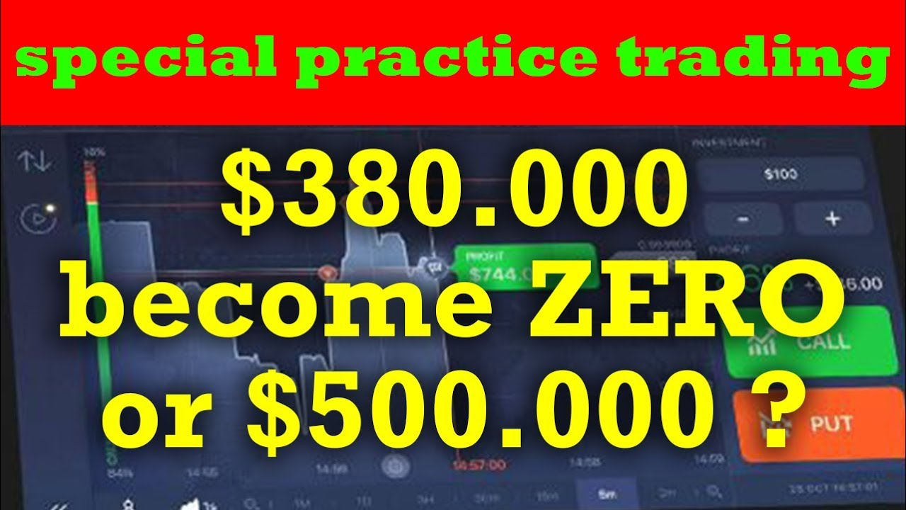 IQ Option Strategy Spesial Latihan Demo Trading - $348.000 habis atau jadi $500.000 ???