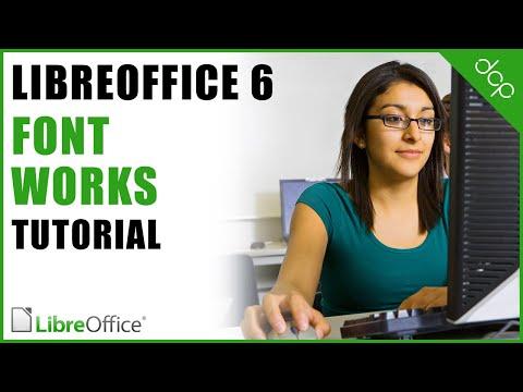 Font Works - Libre Office Writer Tutorial - [ Word Art Tutorial ]