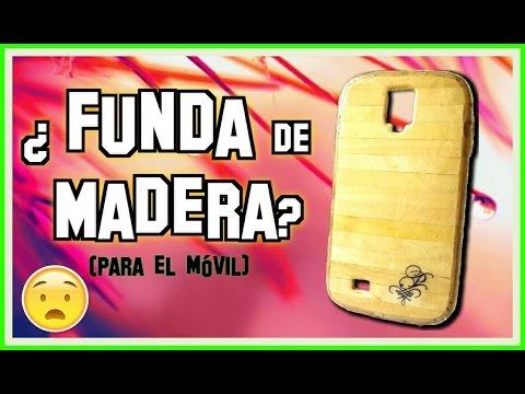 adc8ffbf32b Cómo hacer una funda para el celular con ¿Madera? (Real)   Pablo Inventos