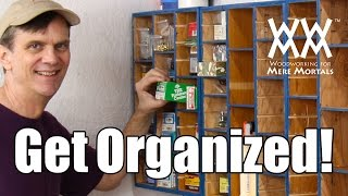 Organize Hardware In This Cubby Hole Storage Cabinet. Made From Recycled Wood.
