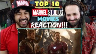 TOP 10 MARVEL Cinematic Universe MOVIES - REACTION & ANALYSIS!!!
