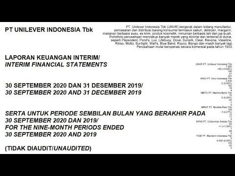 Laporan Keuangan Q3 Unvr Unilever Indonesia Tbk Youtube