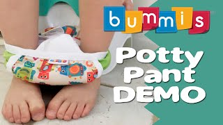Bummis Potty Pant Potty Training Review / Demo #ClothDiapers