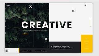Creative Web Design SpeedArt # 19 With Photoshop