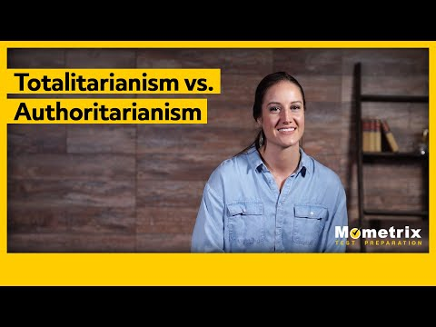 Totalitarianism vs. Authoritarianism