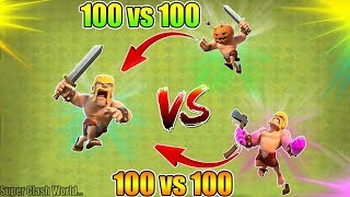 Barbarian VS Raged Barbarians 🔥🔥 Clash of Clans Ultimate Battle | Barbarian VS Raged Barbarians...