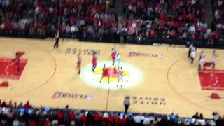 Bulls vs Wizards tipoff (Game 1)
