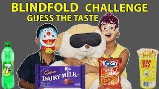 Blindfold Eating Challenge   GuessThe Taste competetion / Kids VS Food*