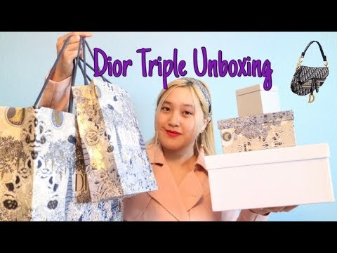 Huge Dior Triple Unboxing Haul // Dior Shopping: Dior Art, Jewelry, & Dior X Rimowa