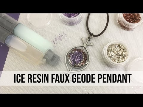 How to Create a Faux Geode Pendant with ICE Resin®