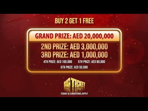 How To Book/buy Big Ticket Online? Abu Dhabi Airport Lucky Draw Tickets