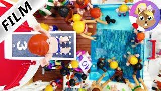 プレイモービル劇場【1人でアテレコ】フォーゲル一家でジャンプ飛び込み大会開催!
