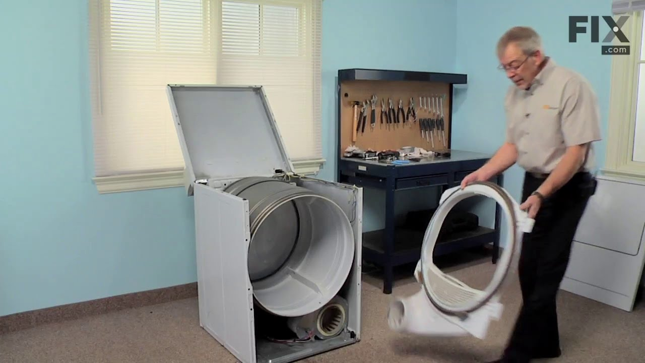 small resolution of amana dryer repair how to replace the roller bracket and shaft assembly