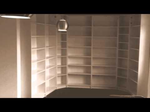 Ikea Billy Bookcase On 3 Side Walls Youtube