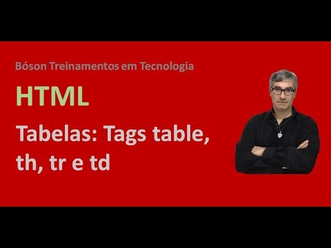 Curso de html e css criando tabelas table th tr td for Tr th td table html