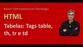 Curso de HTML e CSS - Criando Tabelas (table, th, tr, td) - Parte 1