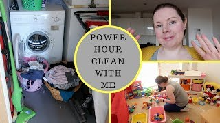 POWER HOUR CLEAN WITH ME || CLEANING MOTIVATION || SAHM