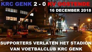 Jupiler Pro League: KRC Genk 2 - 0 KV Oostende (Supporters verlaten het Stadion van KRC Genk)