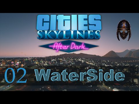 Cities Skylines :: Waterside : Part 2 - A New Start (Snowfall)
