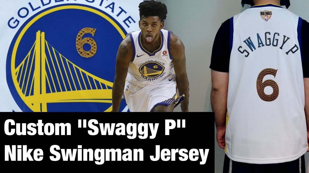 a09a704c8e76 Swaggy P Custom Nike Swingman Jersey made at Niketown San Francisco s Jersey  Studio