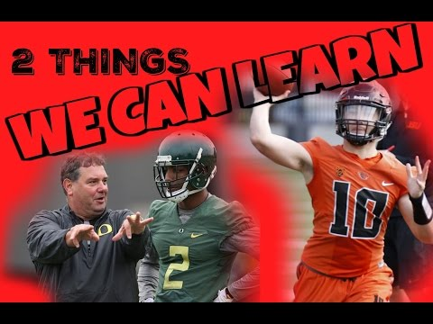 2 Things We Can Learn: Oregon State Beavers and Oregon Ducks football