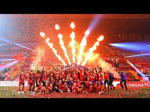 CHAMPIONS! Liverpool's Premier League trophy lift