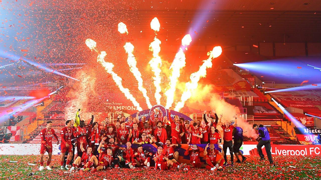 CHAMPIONS! Liverpool's Premier League trophy lift - Flipboard