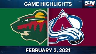 NHL Game Highlights   Wild vs. Avalanche - Feb. 2, 2021