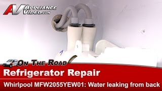 refrigerator repair water leaking in unit on floor maytag