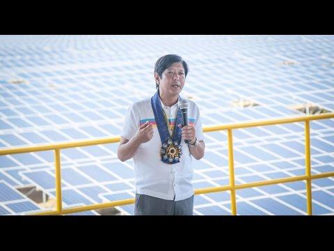 Sen. Bongbong Marcos - Inauguration of the 20 mw solar plant at Currimao, Ilocos Norte